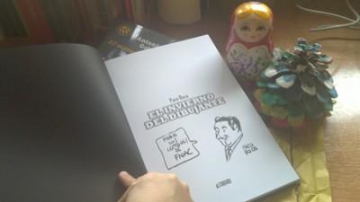 """Firma de Paco Roca en su libro """"El Invierno del dibujante"""""""
